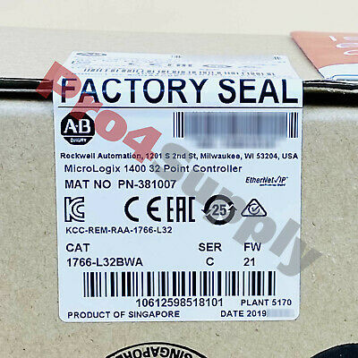 2018 US STOCK Allen-Bradley MicroLogix 1400 32 Point Controller 1766-L32BWA