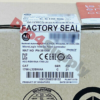 2017*FACTORY SEAL* ALLEN BRADLEY MicroLogix 1400 32Point Controller 1766-L32BWAA