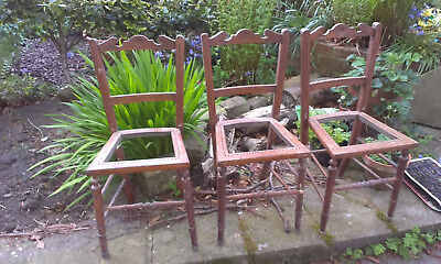 SIX Bedroom chairs for restoration