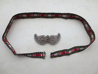 GORGEOUS VINTAGE FOLKLORE SILVER FILIGREE BELT BUCKLE ORIGINAL Early 20thCentury