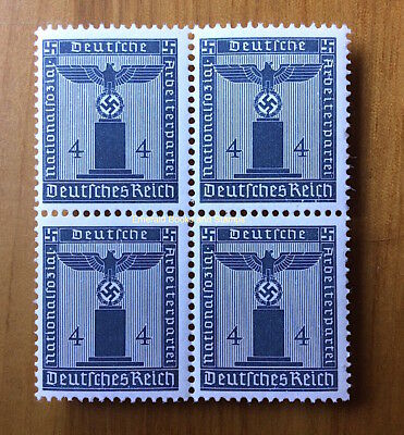 EBS Germany 1942 4 Pfennig Nazi Party Official Dienst BLOCK 4 Michel 157 MNH**
