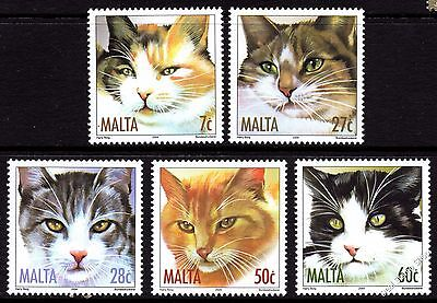 Malta 2004 Cats Complete Set SG1349 - 1353 Unmounted Mint