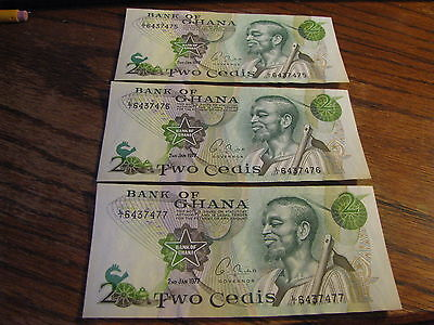 3 - Bank of Ghana Two (2) Cedis  Bank Notes   Lot# F