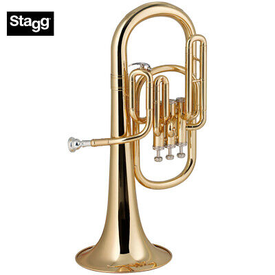 NEW Stagg WS-AH235 Pro Series Key of Eb 3 Valves Alto Horn with ABS Case