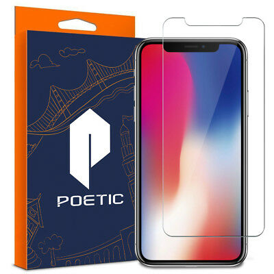 Poetic【Full Coverage】Tempered Glass Screen Protector For Apple iPhone X Clear