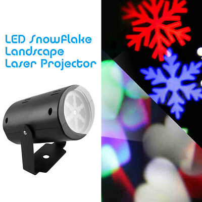 Cool Snowflake Moving Sparkling LED Landscape Laser Projector Wall Xmas Lights