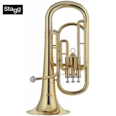 NEW Stagg WS-BH235 Key of Bb 3 Valves Brass Baritone with ABS Case