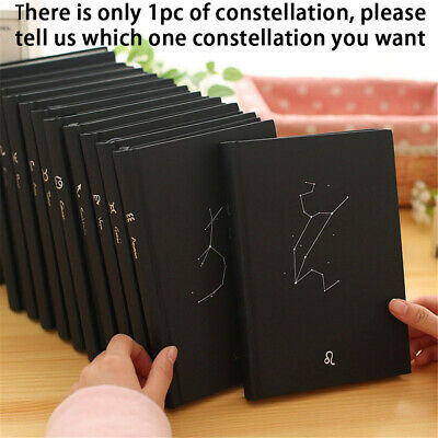 """12 Constellation"" 1pc Journal Diary Hard Cover Lined Planner Notebook Agenda"