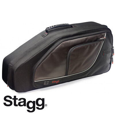 NEW Stagg SC-AS Lightweight Deluxe Black Saxophone Nylon Wear-Proof Soft Case
