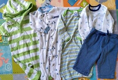 Mixed Lot Baby Boy Infants 3 6 Months Long Sleeve Bodysuit Footed PJ Pants