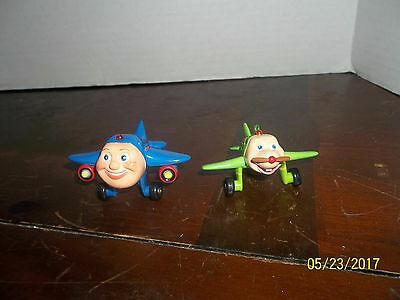 2003 Metal Blue And Green Jay Jay Jet Plane Lot Of 2 Snuffy