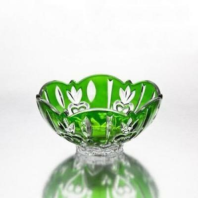 Fine Crystal Accent Bowl, Green