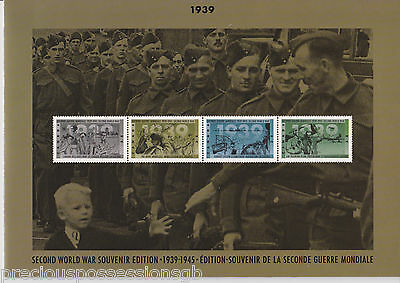 Canada Post Second World War Souvenir Edition Wwii 1939 Folder Fdc Mnh Stamps