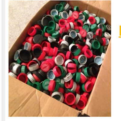 (300) Plastic Coca-Cola Coke Bottle Caps Lids- Crafts Codes Have Been Used