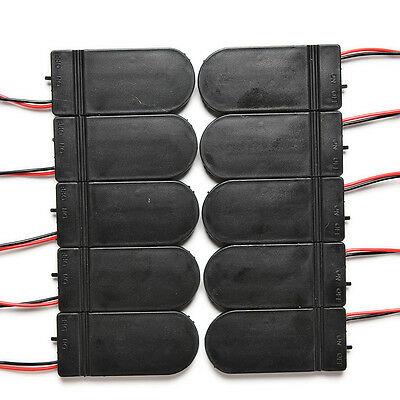 10X DIY 3V Button Coin Cell Battery Holder Case Box With On-Off Switch CR2032 FO