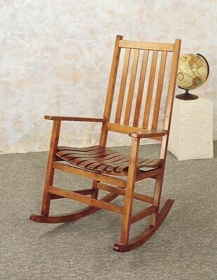 NEW Rocking Chair Rocker Oak Wood Finish Antique Mission Back Seat Porch Nursery