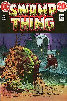 Swamp Thing #4, high grade !! Monster on the Moors ~ Awesome Wrightson c/art !!