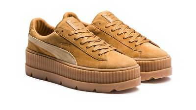 PUMA FENTY SUEDE CLEATED CREEPER WOMEN S 366268-02 GOLDEN BROWN last size  8.5 dcb28199c