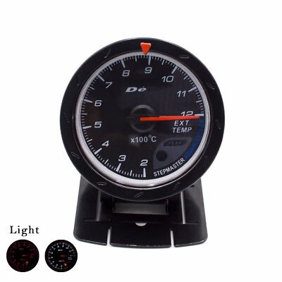 60MM Car Exhaust Gas Temp Gauge EGT/EXT Temp Gauge With Red & White Light Meter