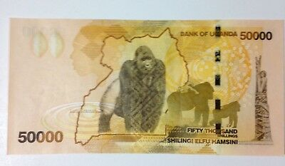 Uncirculated Uganda 50,000 Shillings 2010