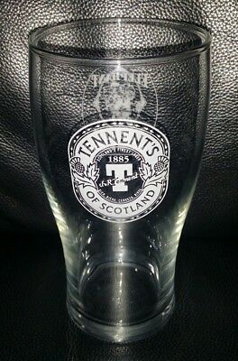 Rare Collectable Tennents Of Scotland 570Ml Approx Beer Glass Used Condition
