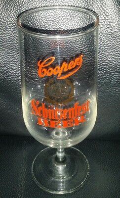 Rare Collectable Coopers Schutzenfest Beer Glass Great Used Condition