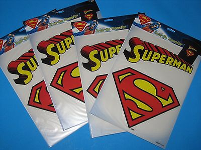Novelty Superman Iron On Transfers (4) Warner bros DC comics help rescued cats