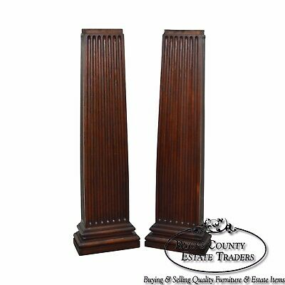 Antique Pair of Solid Mahogany Architectural Columns