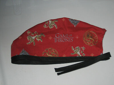 Surgical Scrub Hats/Cap  Game of Thrones   Red