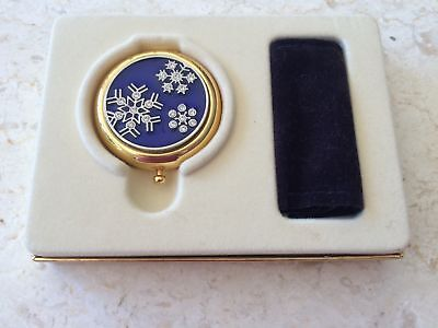 ESTEE LAUDER Crystal SNOWFLAKE Pressed Powder Compact Lucidity NEW & RARE