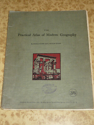 1930 Practical Atlas of Modern GEOGRAPHY Vintage World Map 2nd Edition Book