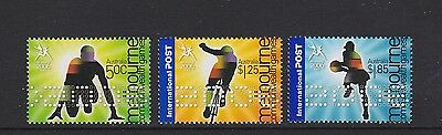 Australia 2006 : Melbourne 2006 Commonwealth Games Set of 3 Decimal Stamps, MNH
