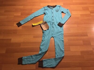 """Lazy One Youth  Flapjack Pajama One Piece Blue """"Tail End"""" - Size 8 New With Tags"""