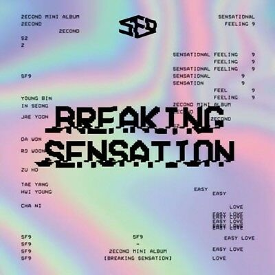SF9 [BREAKING SENSATION] 2nd Mini Album CD+POSTER+PhotoBook+2p Card K-POP SEALED