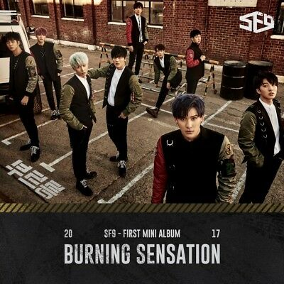 SF9 [BURNING SENSATION] 1st Mini Album CD+64p Photo Book+2p Card K-POP SEALED