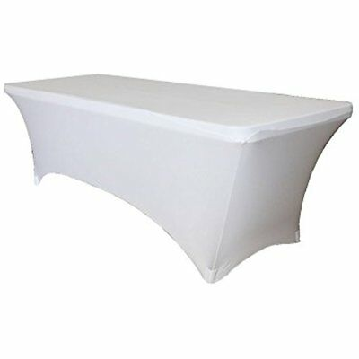 Fitted Spandex Wedding Table Cover 8 Ft Feet Rectangular Stretch Tablecloth By -
