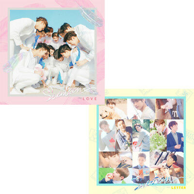 SEVENTEEN [FIRST LOVE&LETTER] 1st Album CD+Book+Post Card+Sticker Set+Card+GIFT