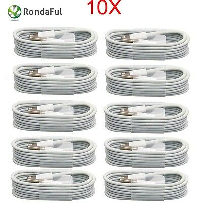 10x1M USB Charging Data Cable Charging Cable For Apple iPhone 5/5S /5C/6/ iPod