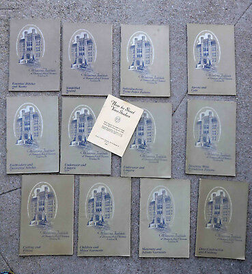 Original 1920s Lot of 12 Sewing Booklets The Woman's Institute of Domestic Arts