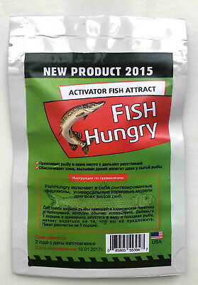 1/3/5 FISH HUNGRY Bait Activator. Original Liquid Attractant Pheromone