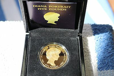 Princess Diana 2017 £5 coin 20th Anniversary Gold Plated Coin * beloved Royal *