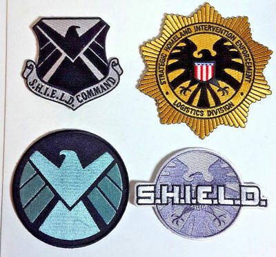 "Avengers/Agents of S.H.I.E.L.D TV Series 3"" to 4"" Logo Deluxe Patch Set of 4"