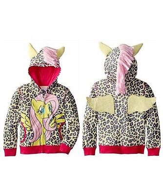 Toddler My Little Pony Zipped Hoodie With Wings