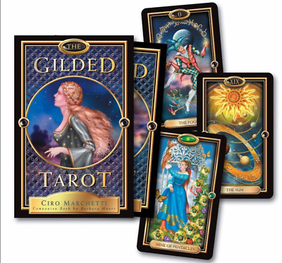 The Gilded Tarot Deck, 78 New cards with Beautiful artwork, Fortune, Magic