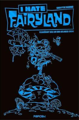 SKOTTIE YOUNG: I HATE FAIRYLAND VZA  #1+2 blau+türkis LUXUS-HC + SIGNED ARTPRINT