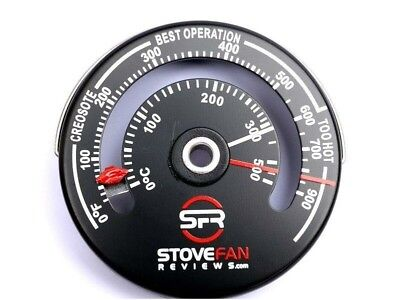 Sfr Magnetic Stove Flue Pipe Thermometer - Temperature Gauge For Wood Burner