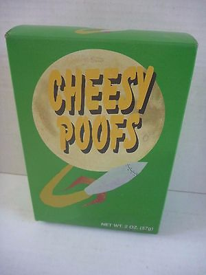 South Park CHEESY POOFS promotional BOX with food 1998 Comedy Central CARTMAN