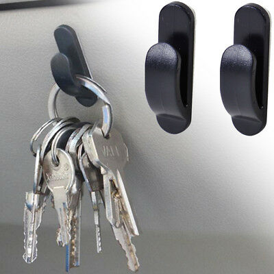 2pcs Black Auto Car Truck Self Adhesive Hook Bag Key Purse Holder Hanger