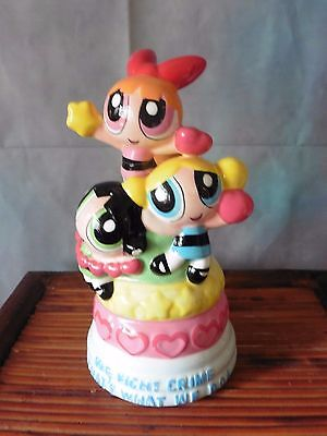 Vintage Powerpuff Girls Ceramic Coin Bank Cartoon Network Collectible 2000's