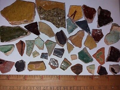 Lot 30+ Ancient Archaeology Ceramic Glaze Fragments Amphora Pot Romans  Israel